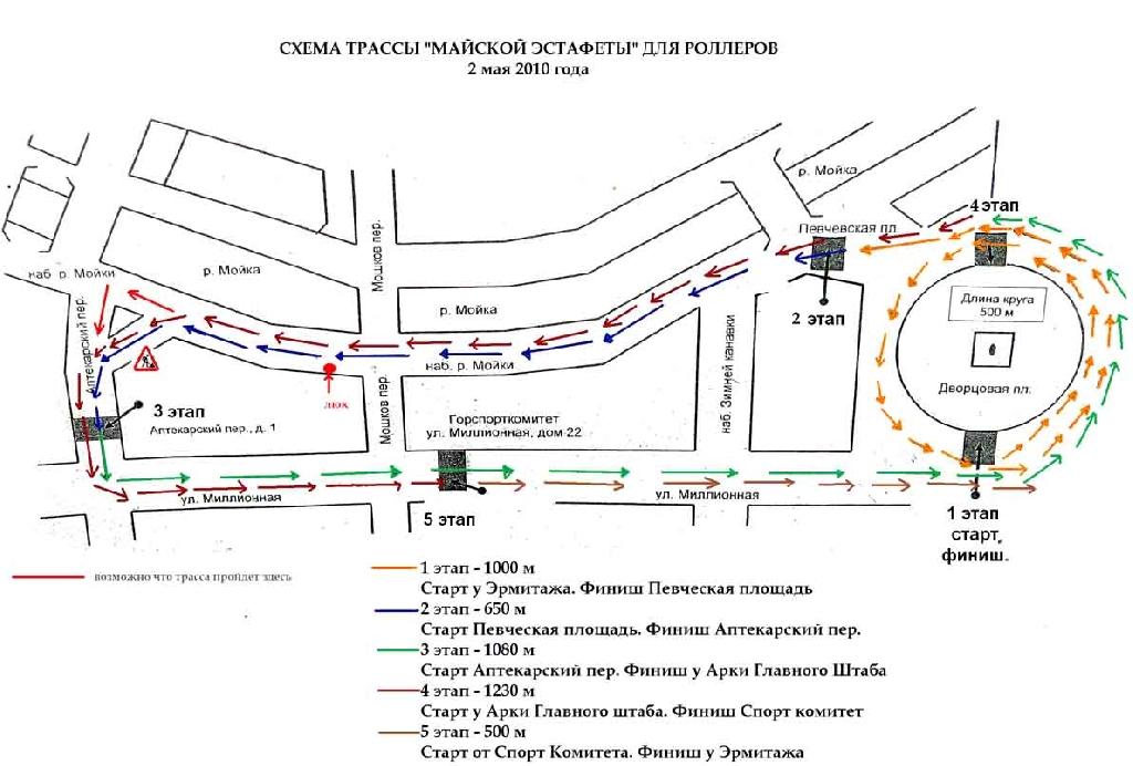Схема дворовой площади